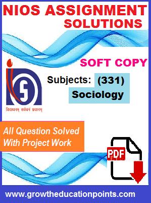 Nios Sociology-331 Solved Assignment-Hindi Medium